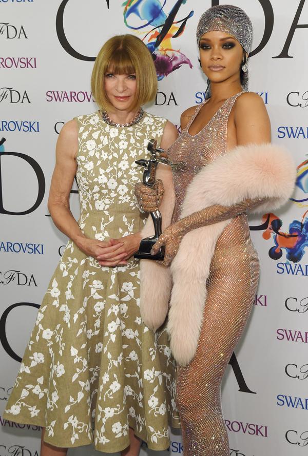 Anna Wintour y Rihanna