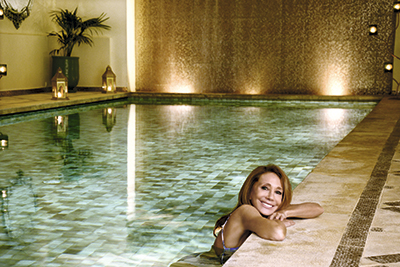 Redecoró este lujoso  spa del hotel Sofitel de Marrakech.