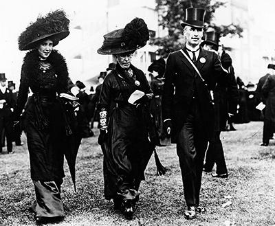 Por el fallecimiento del rey Eduardo VII, la carrera de Ascot de 1910 se vistió de luto.