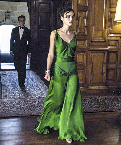 El vestido verde esmeralda usado por Keira Knightley en Expiación.