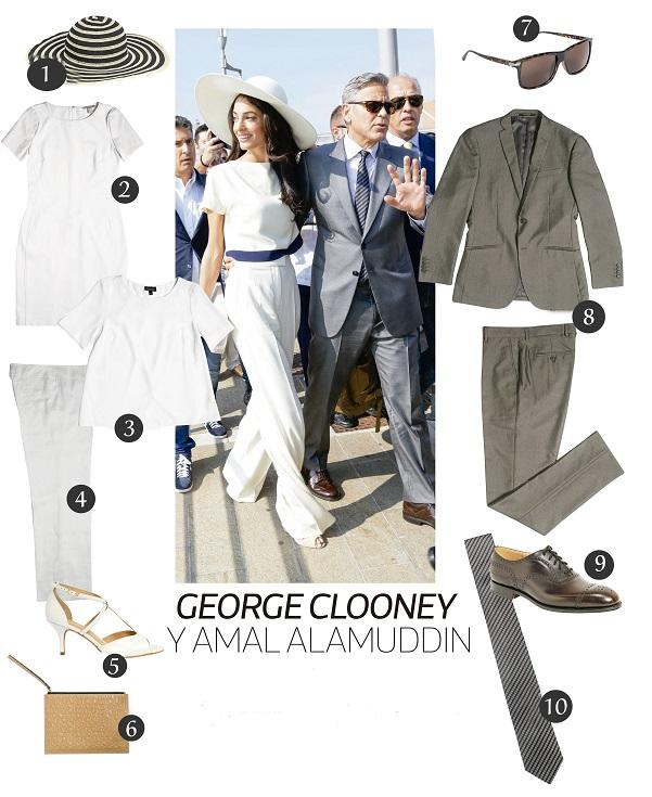 Clooney y Amal