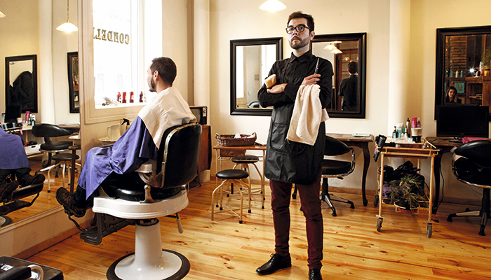 Barber as con onda revista mujer for Salones de peluqueria decoracion fotos