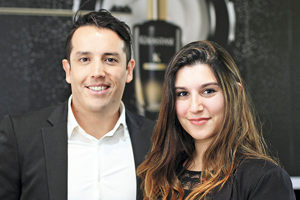 Javier Mancilla y Camila Gutiérrez