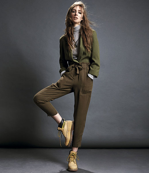Chaqueta verde militar mujer ripley