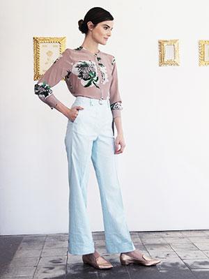 Blusa y pantalón, Jazmin Chebar; Zapatos, Prüne.