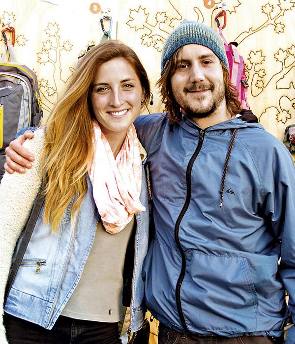 Olivia Anfruns y Pablo Lama