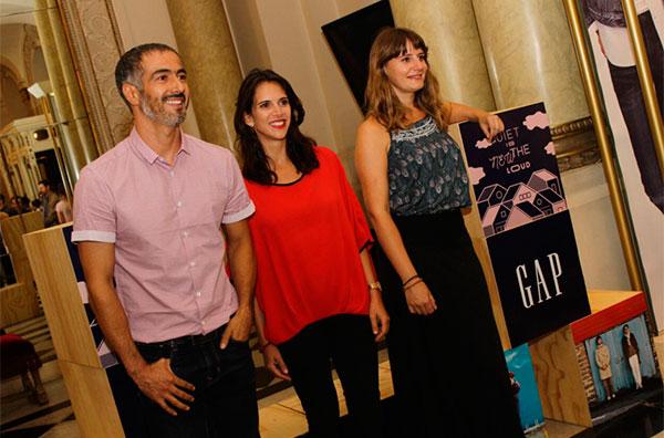 César Caillet, Jose Illanes y Javiera Hernández