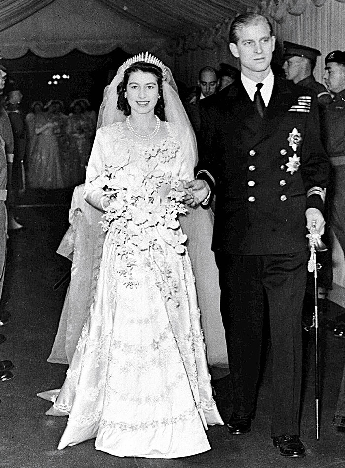 Su boda, 1947.