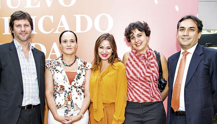 Javier Sanguinetti, Francisca Florenzano, Ivette Ramírez, Elaine Futata y Carlos Murillo