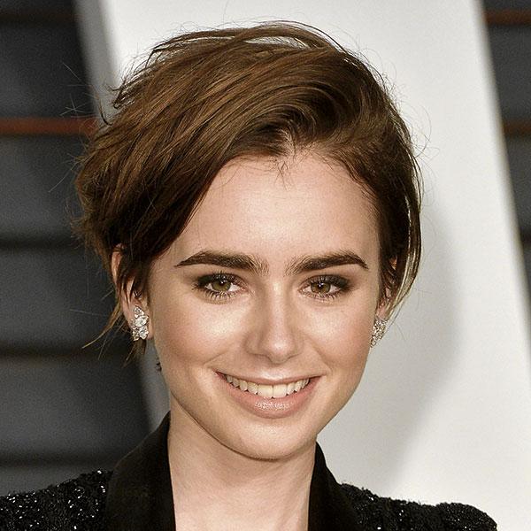 El pelo muy corto como el de Lily Collins.