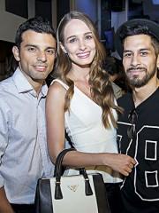 Roberto Parra, Gabriela Dallagnol y Raúl Flores