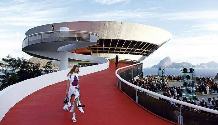 El Museo de Arte Moderno de Niterói, en Río de Janeiro.