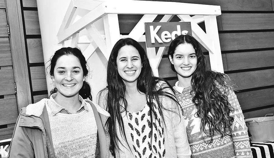 Magdalena Aguilera, María Ignacia Merino y Catalina Bermúdez