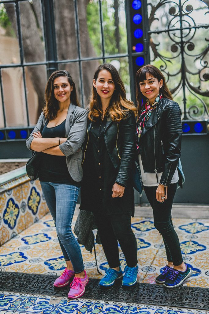 Bárbara Pezoa, Catalina Pérez y Joyce Power