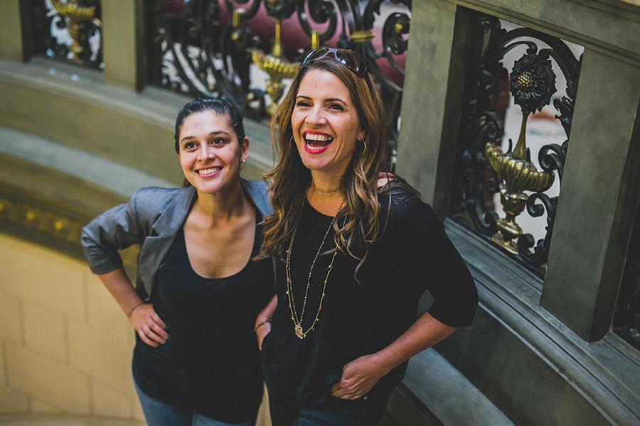 Bárbara Pezoa y  Monserrat Álvarez