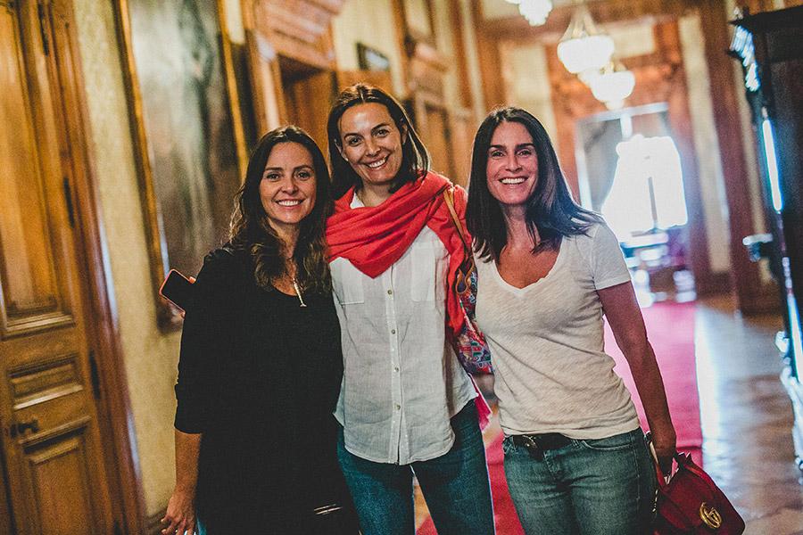 Elena Dressel, Rosita Parsons y María Gracia Subercaseaux
