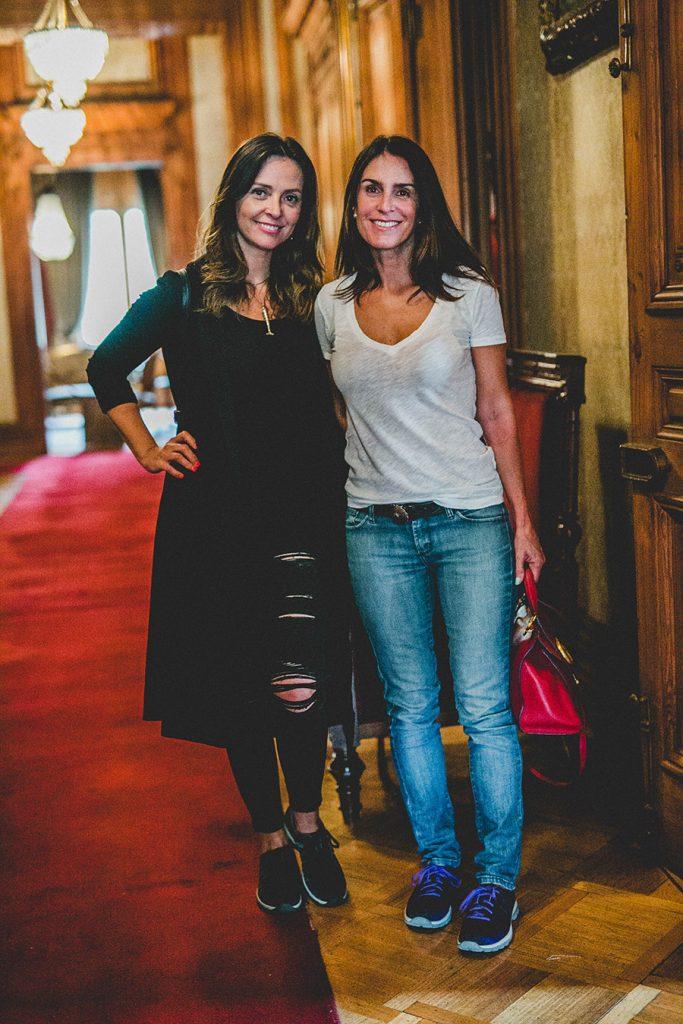 Elena Dressel y María Gracia Subercaseaux