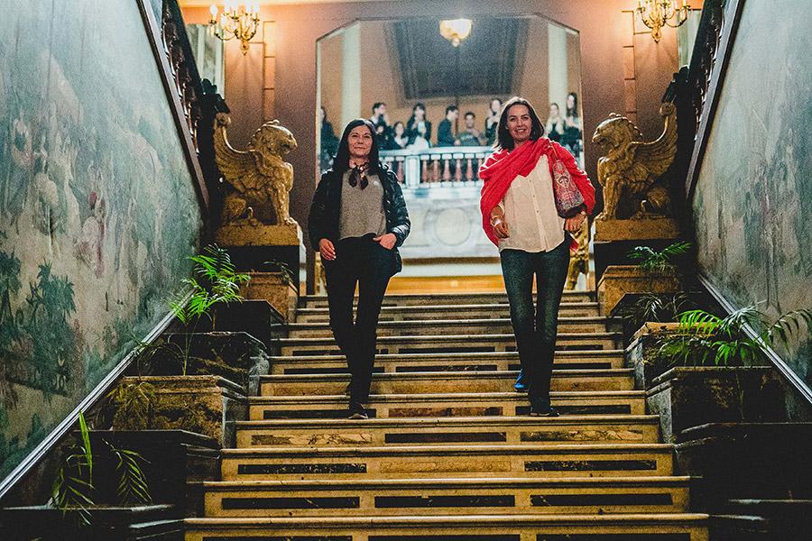 Lorena Valenzuela y Rosita Parsons