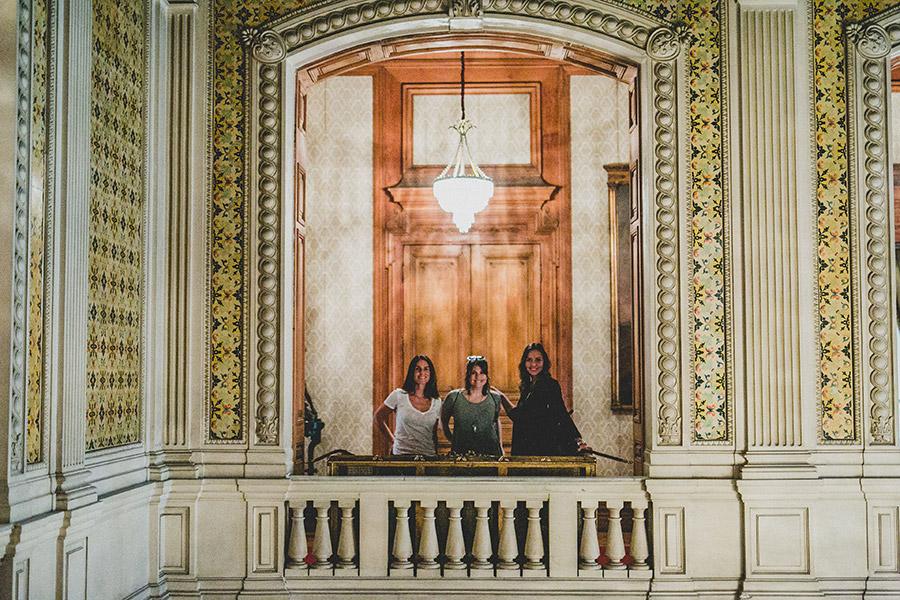 María Gracia Subercaseaux, Verónica Calabi y Elena Dressel