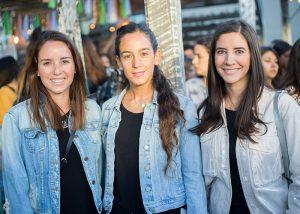 Brunela De Marzi, Josefa Izquierdo y Florencia Vial
