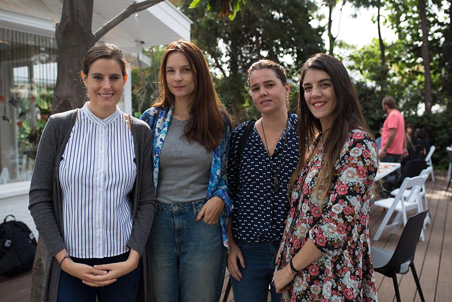 Rosario Avaria, Carmen Barahona, Magdalena Leyton y María Millas