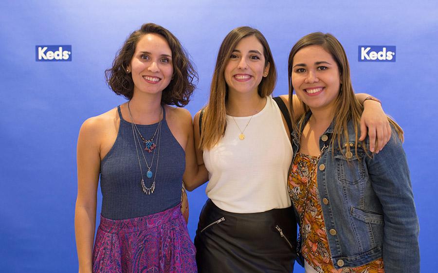 Valentina Valenzuela, Josefina Jimenez y Daniela Galdames