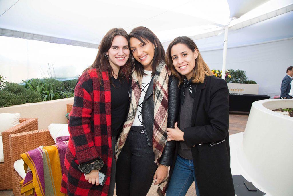 Elisa Herrero, Andrea Guerrero y Alejandra Pumarino