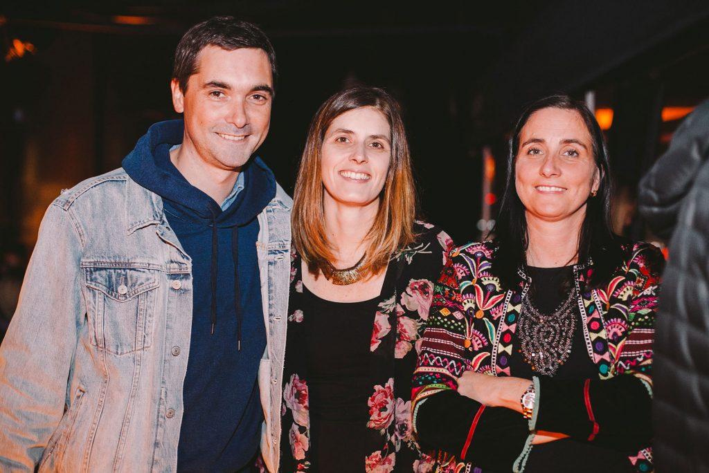 Manuel Labra, Constanza Correa y Daniela Ghirardelli