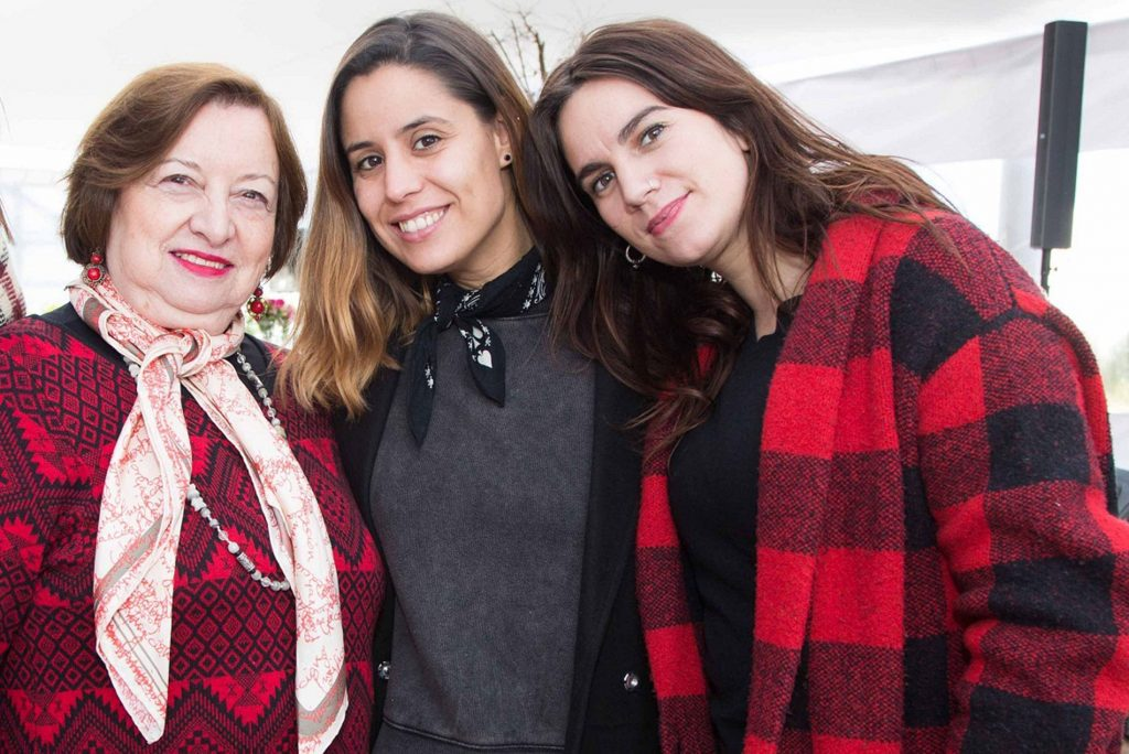 Marina Meneses Weber, Alejandra Pumarino y Elisa Herrero