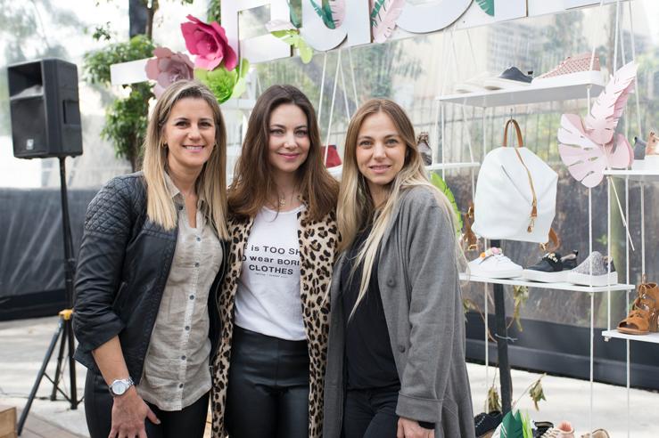 Patricia Larraín, Mónica Goduy y Mariana Derderian.
