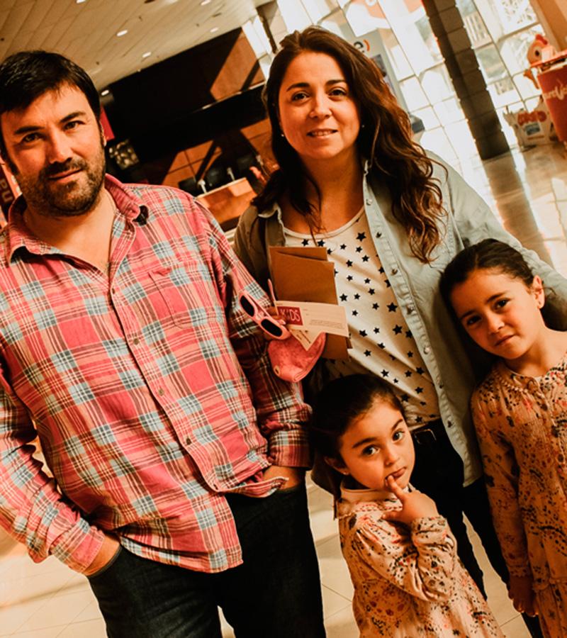Augusto Herrera, Andrea Silva, Emilia Herrera y Laura Herrera