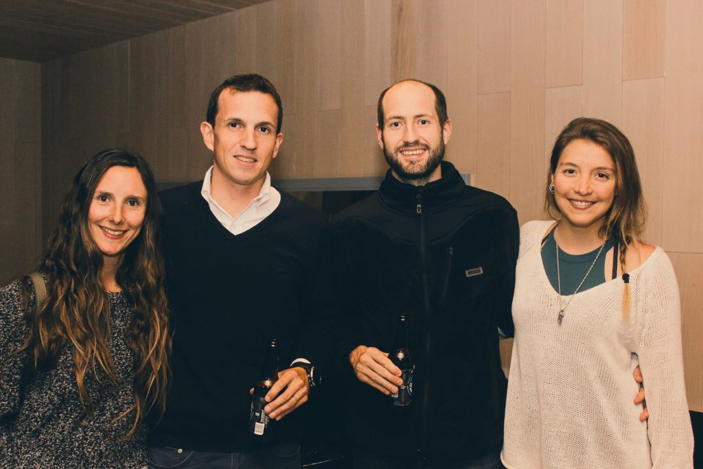 Catalina Rioja, Sergio Contardo, Juan Ignacio Urrutia y Camila Cercos
