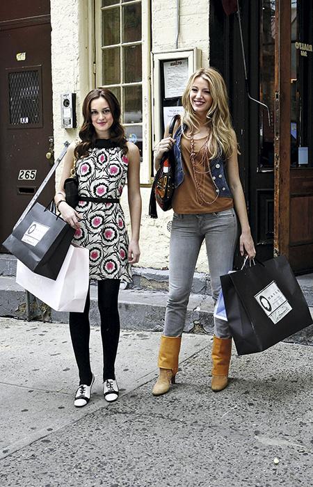 Blair Waldorf y Serena Van der Woodsen de Gossip Girl