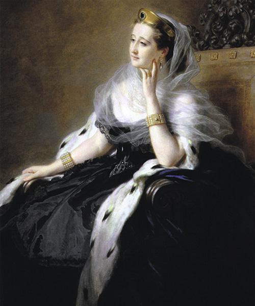 Emperatriz Eugenia. Retrato por Franz Xavier Winterthaler, 1862.