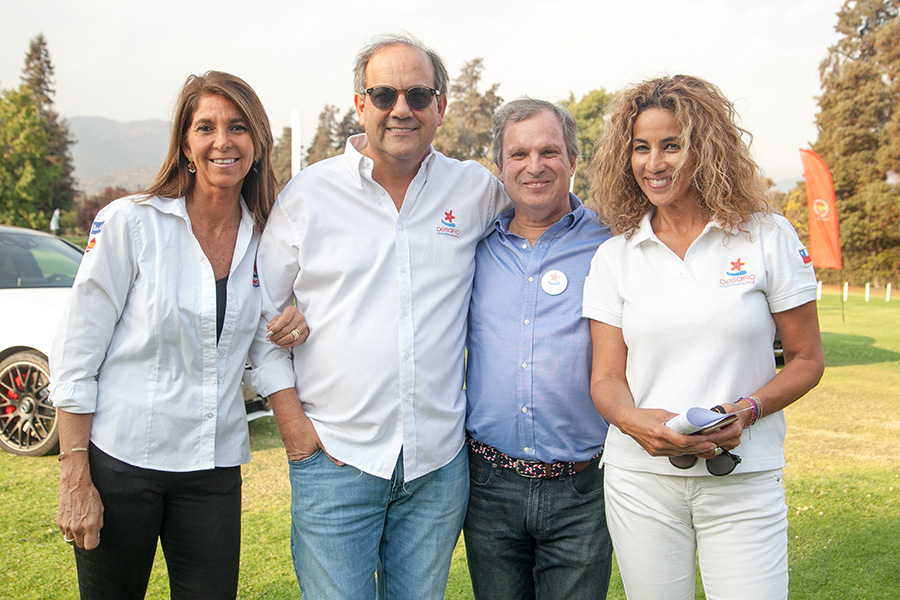 Francisca Middleton, Cristián Goldberg, Juan Pablo Navarro y Annette Alemán
