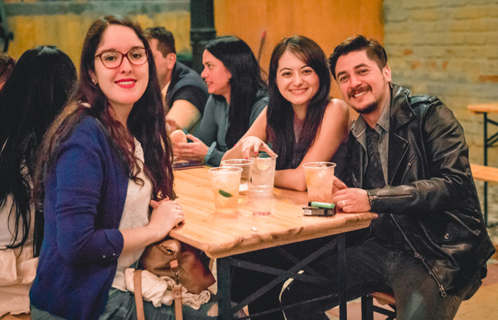 Michael Martínes, Thania Labarca y Gisela Canedo