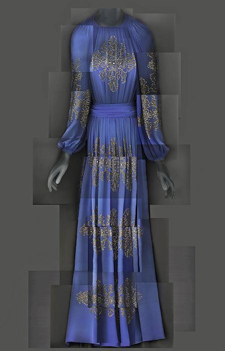 Vestido de noche de Jeanne Lanvin, 1939.